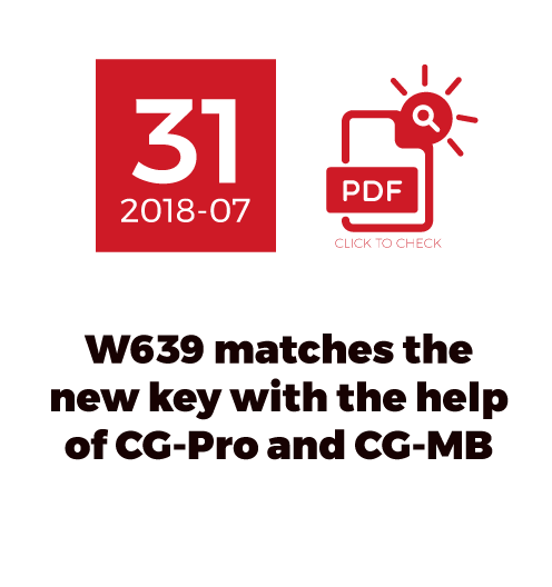 W639 matches the new key With the help of CG-Pro and CG-MB