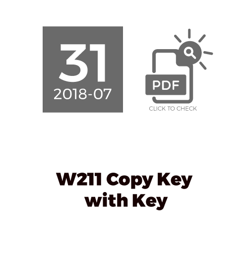 W211 Copy Key With key